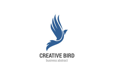Flying Bird Logo abstract design vector template. Phoenix concep