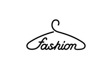 Hanger Fashion text Logo store design vector creative