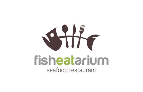 Fish seafood restaurant Logo creative design vector