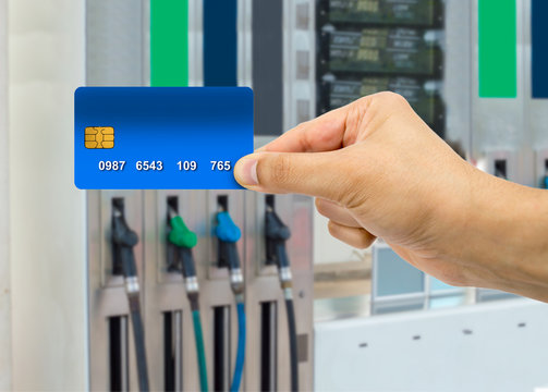 payment at the gas station with credit card
