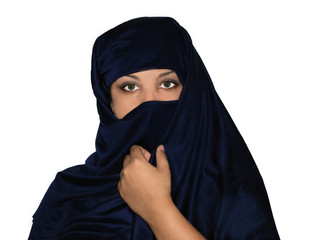Multicultural, Multiracial Veiled Woman
