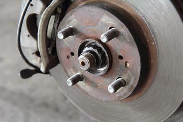 old disk break of the car