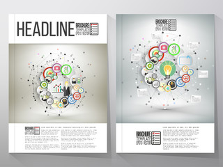 Business vector templates, brochure, flyer or booklet