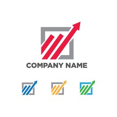 finance management financial vector logo icon