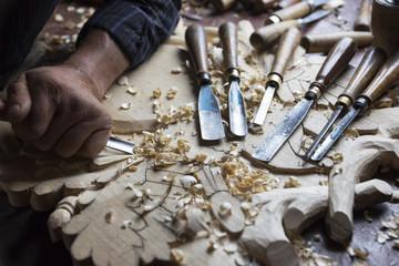 Man wood working