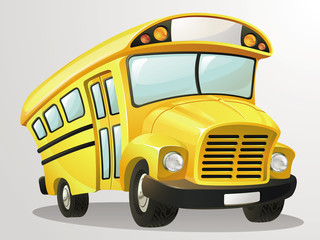 School Bus Vector Cartoon