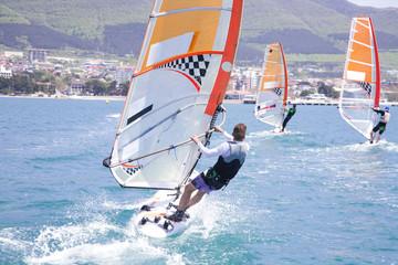 race on windsurfing