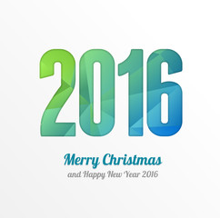 Happy New Year 2016 Colorful Greeting Card. Vector