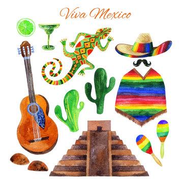 Viva Mexico watercolor set