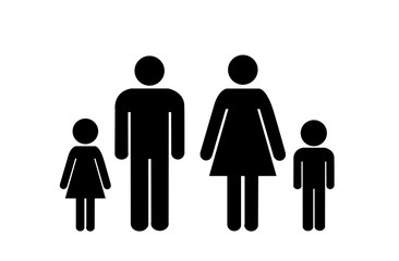 family icon over white background