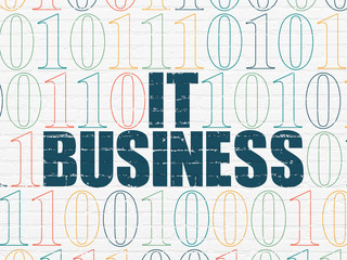 Business concept: IT Business on wall background