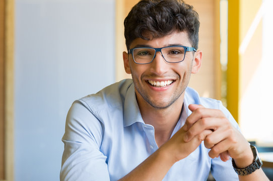 Young man wearing spectacle