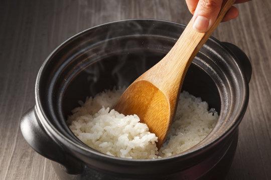 炊きたてのご飯 Japanese rice