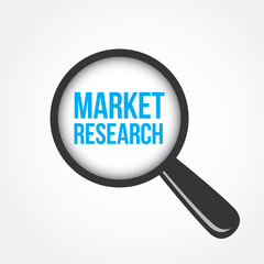 Market Research Magnifying Glass