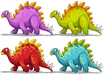 Dinosaur in four different colors