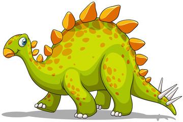 Green and orange dinosaur