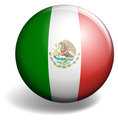 Mexico flag on round badge