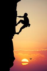 climbing vertical wall
