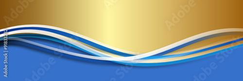 Hintergrund blau gold