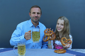 Oktoberfest, young girl and man