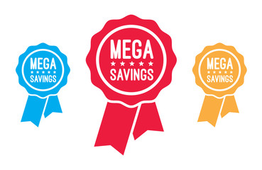 Mega Savings Ribbons