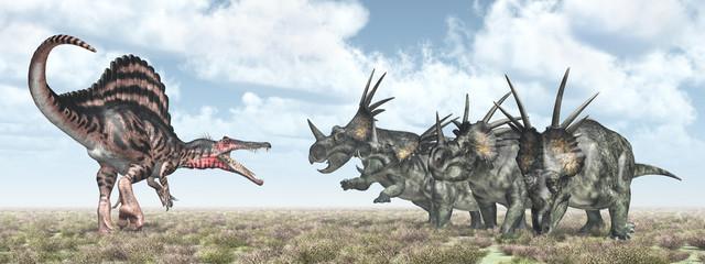Spinosaurus and Styracosaurus