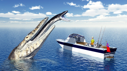 Hochseeangler und Seemonster