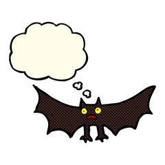 cartoon bat with thought bubble