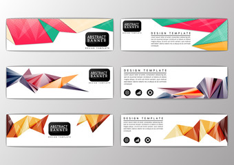 Abstract colorful polygon banner, site, modern design template