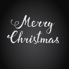 Christmas vector hand lettering