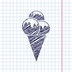 Vector ice-cream icon. Eps10