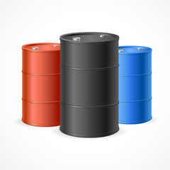 Oil Barrel Drum. Vector