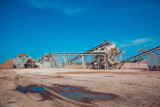 The Plant of the Production the Crushed Stone