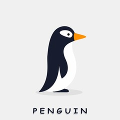 Penguin. Flat style. Vector illustration.