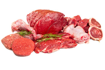 Foto op Plexiglas Vlees raw meat mix