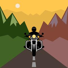 Motorcycle adventure, vector