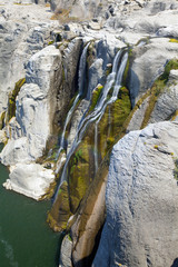 Smaller southern waterfall at Shoshone Falls in late summer, Ida