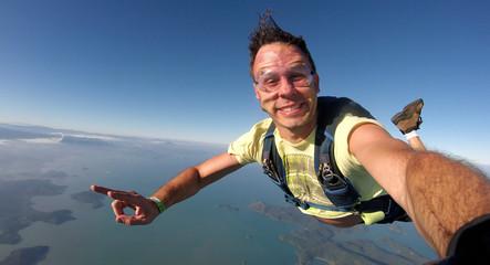 Skydiver self portrait