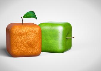 Orange Apfel