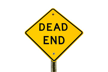 Dead End Sign Isolated on White