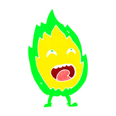 cartoon flame character