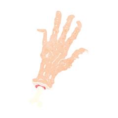 cartoon gross severed hand