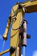 Hydraulic Cylinder on Excavator Arm