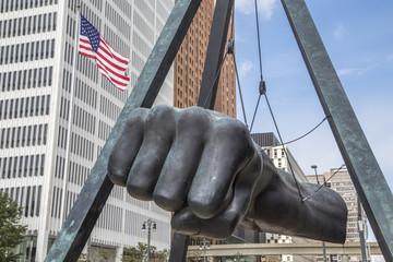 Joe Louis Fist in Detroit  Wall mural