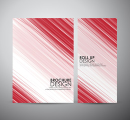 Brochure business design template or roll up. Vector Illustration.