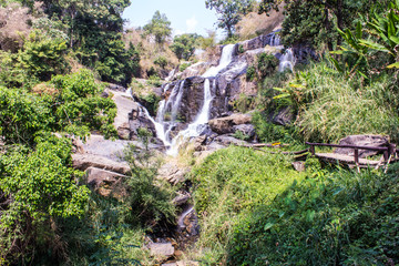 Mae Klang Waterfall in Doi Inthanon, Chiang Mai Province Thailan