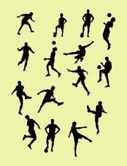 Football Player Silhouettes, art vector design