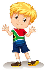 South Africa boy waving and smiling