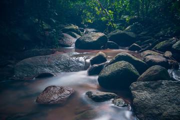 chan ta then waterfall.In Wildlife Green - he hit Phu In Tambon Bang Phra, Sriracha, Chonburi, Thailand.