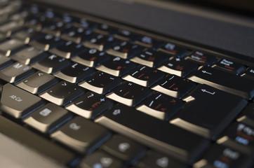 Laptop keyboard isolated